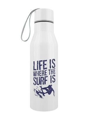 Water Bottle Life is Where The Surf is White