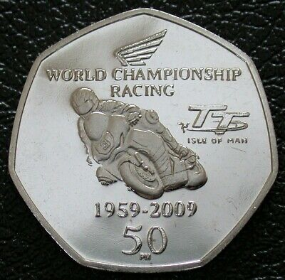Isle of Man 50 pence 2016 Races Motorcycle TT Races Motorbike Legends UNC