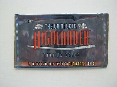 The Complete Highlander Rittenhouse Archives Empty Trading Card Wrapper