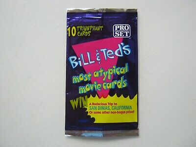 Bill & Ted's Most Atypical Movie Cards Pro Set Empty Trading Card Wrapper