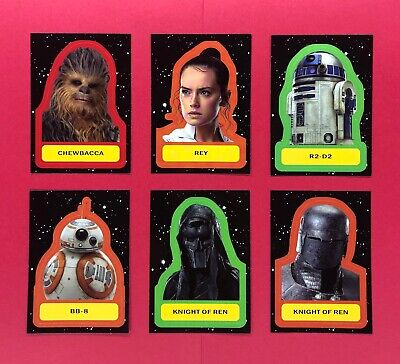 Topps Star Wars Journey to The Rise of Skywalker Character Sticker - You Pick