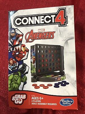 Connect 4 Game: Marvel Avengers Edition - By Hasbro Grab & Go