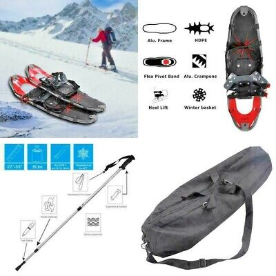 Winter All Terrain uni Sports Snowshoes With Walking Poles&Free Carrying Bag