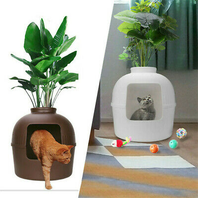 Eco-friendly Cat Litter Box Large Hidden Covered Tray For Pet Cat Living,Playing