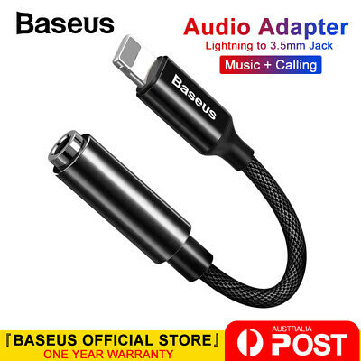 Baseus AUX 3.5mm Headphone Jack Adapter Audio Cable for iPhone 7/8/X/XS/XR/11