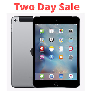 Apple iPad mini 4 128GB, Wi-Fi + Cellular (Brand New Sealed), 7.9in - Space Gray