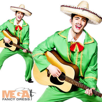 Mexican Tortilla Guy Fancy Dress Mens National Dress Party Adult Costume Outfit
