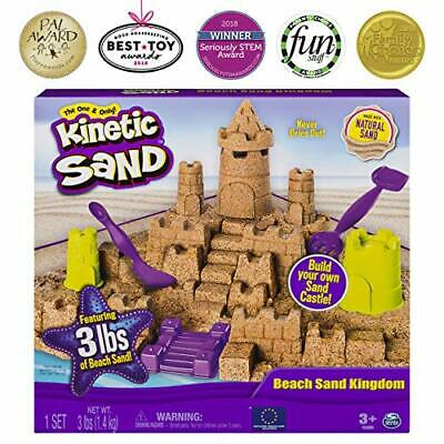 Kinetic Sand Beach Sand Kingdom Playset with 3lbs of Beach Sand, for Ages 3+ NEW