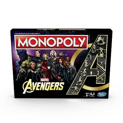 Monopoly: Marvel Avengers Edition Board Game for Ages 8 and Up Kid Gift