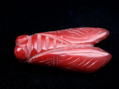 Old Nephrite Jade Stone Carved HongShan Culture Sculpture Bug Cicada #11251915