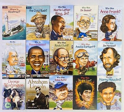 Lot 15 Who Was What Where Is Books History D-Day March Washington Mt. Rushmore