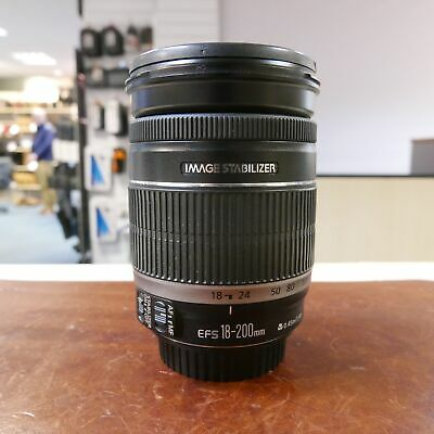 Used Canon EF-S 18-200mm f3.5-5.6 IS lens - 1 YEAR GTEE