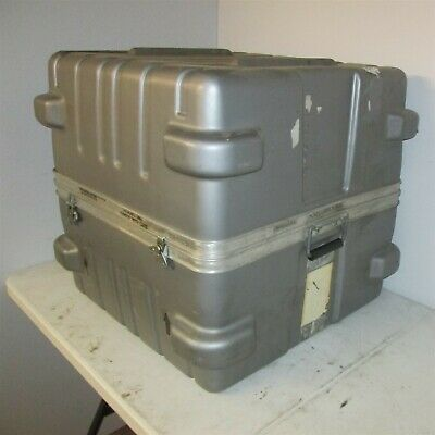 26x26x24 Thermodyne Hard Case Shock Stop with Wheel Plates Hinged Lid Plastic PD