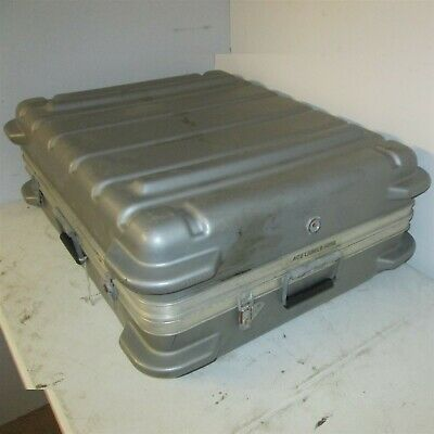 31x25x12 Thermodyne Hard Case Shock Stop Hinged Lid Plastic Silver
