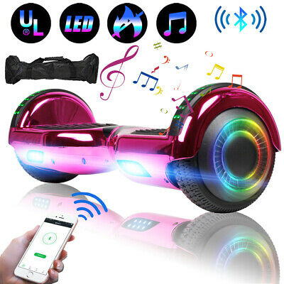 """6.5"""" UL Bluetooth Speaker Hoverboard Self Balancing Electric Scooter With Bag"""
