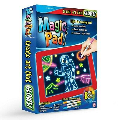 Magic Pad The LED Writing Screen Light Up With Neon Pens Creative NEW