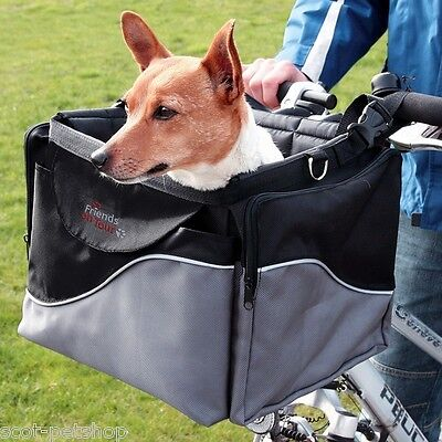 NEW Deluxe Dog Bicycle Front Box Carrier For Small Dogs