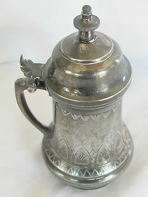simpson hall miller silver quadruple #181 1880-99 sm syrup table pitcher