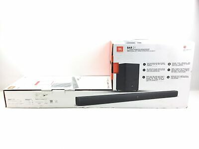 "*READ* JBL Bar 2.1-Channel Soundbar System with 6-1/2"" Wireless Subwoofer Black"