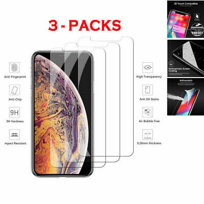 3-Pack iPhone 6/7/8/Plus/11/11PRO/11PRO MAX Tempered GLASS Screen Protector