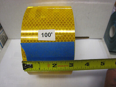 """AMBER YELLOW  Reflective   Conspicuity  Tape 3"""" x 100 ft"""