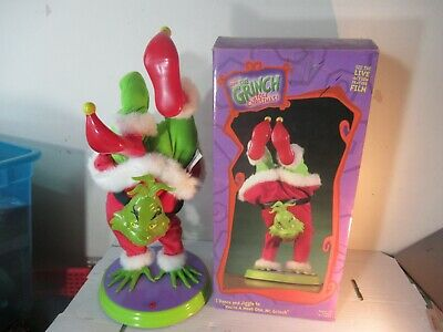 How the Grinch Stole Christmas Gemmy Dancing Grinch TESTED WORKS in box