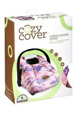 Cozy Cover Infant Carrier Car Seat Cover Pink Camo Weatherproof Soft Fleece