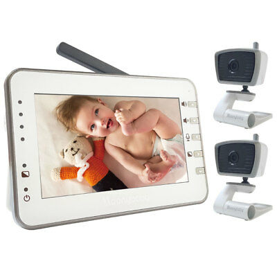 "[Refurbished] MoonyBaby Digital 4.3"" Large LCD Video Baby Monitor with 2 Cameras"