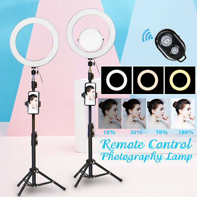 12.6'' Selfie Studio LED Ring Light with Stand Mirror & Remote For Camera Phone