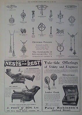 1909 ADVERT THE GOLDSMITHS & SILVERSMITHS Co-PETER ROBINSON-J FOOT & SON Ltd