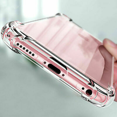 For iPhone 7 8 11 Pro Max XS X XR Crystal Clear Case Shockproof TPU Bumper Cover