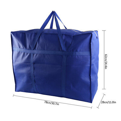Large Thick Oxford Fabric Storage Bag Luggage Clothes Foldable Travel Organizer