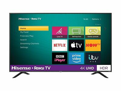 Hisense Roku TV 55 Inch R55B7120UK 4K Ultra HD HDR Freeview Smart LED TV