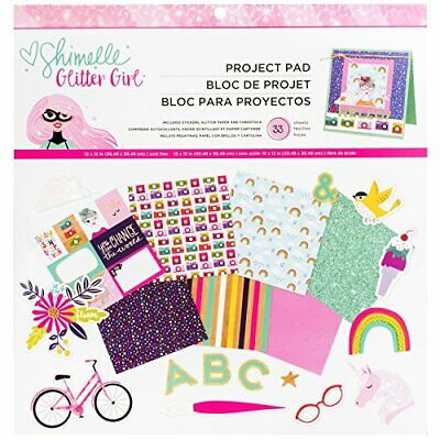 American Crafts Shimelle Glitter Girl 33 Sheet x 12 inch Project Pad