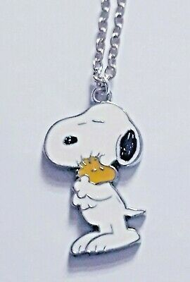 SNOOPY Woodstock Peanuts Cartoon Cute Beagle Dog Pendant Necklace Gift Pouch