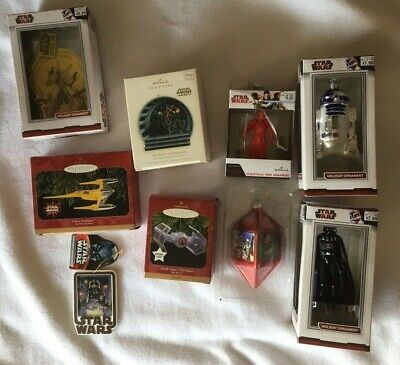 Star Wars Ornament Lot of 9 Hallmark & Kurt S Adler & Other