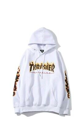 Hoodie Thrasher X Supreme Size M/L Off White