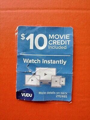 Vudu $10 Gift Card Movie Credits Streaming Ultra HD 4K Movies and TV On Demand