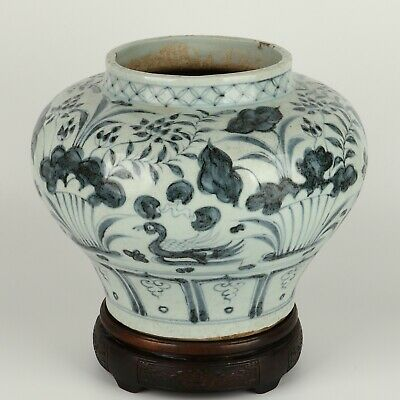 Antique Chinese Collection Blue and White Porcelain Pot