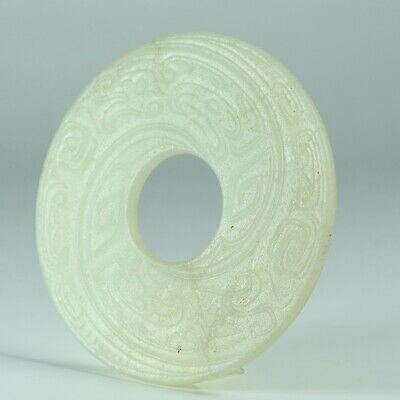 Antique Chinese Collection Hetian jade Carved Jade Bi