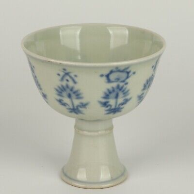 Antique Chinese Collection Blue and White Porcelain Cup
