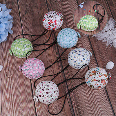 1Pc Fabric cross stitch sewing pin button wrist strap sewing safety pin cus_AU