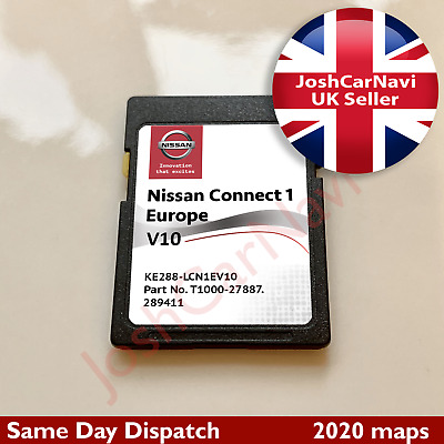 NISSAN MICRA, QASHQAI, JUKE, NOTE Connect 1 V9 SD CARD MAP UK EUROPE 2019 - 2020