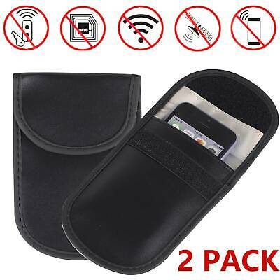 2PCS Car Key Signal Blocker Case Pouch Bag Faraday Cage Keyless Blocking Bag