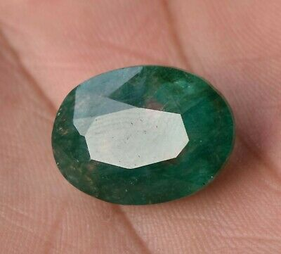 Top Grade Natural Colombian 11.60 ct Green Emerald Fine Oval Cut Loose Gemstone