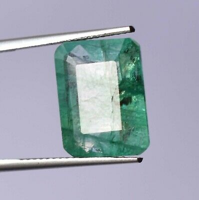 Top Grade Natural Colombian 8.00 ct Green Emerald Octagon Cut Loose Gemstone