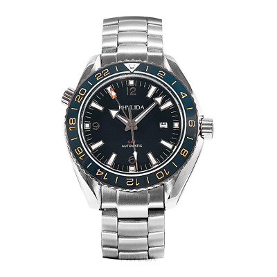 Men's GMT Ocean Master SS Diver Watch Automatic Sapphire Classic Homage Black