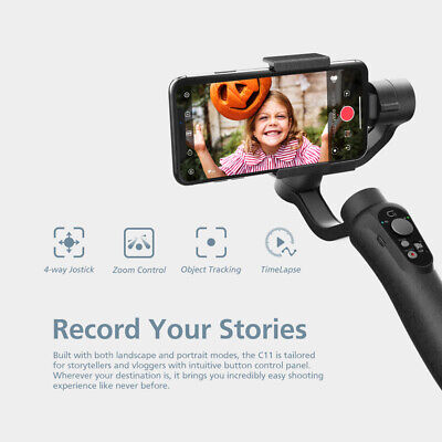 CINEPEER Handheld 3-Axis Gimbal Stabilizer For Smartphone Cellphone GoPro K1E0