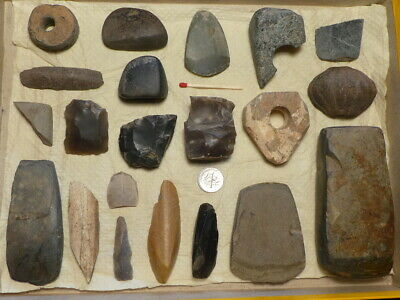 Superb: Old Collection Of Tools / Weapons Stone Age Neolithic Different Cultures