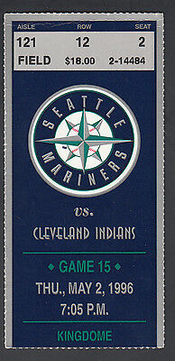 Seattle Mariners vs Cleveland Indians May 3 1996 Ticket Stub